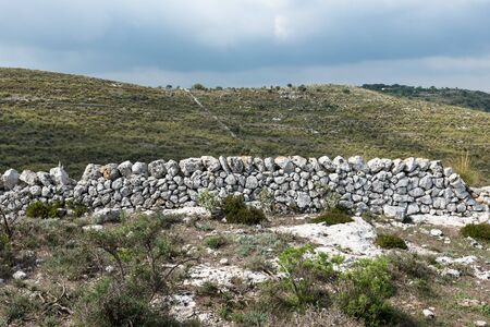 Typical Sicilian dry stone walls