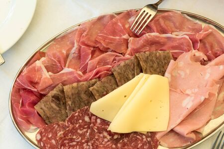 Cold cuts and mixed cheeses Stok Fotoğraf