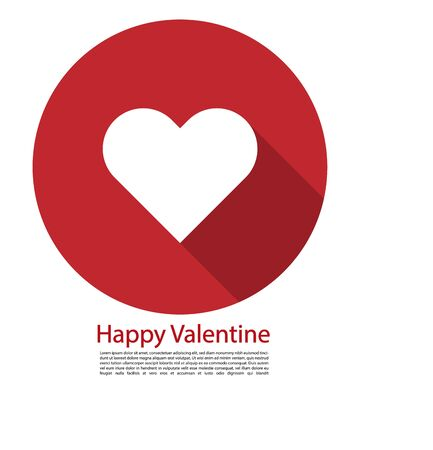 happy valentines vector shape white tehe tagline space Ilustrace