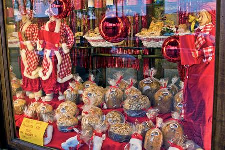 holydays: christmas shop showcases Stock Photo
