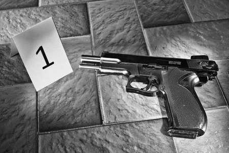 composit: crime scene Stock Photo