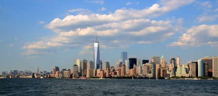 freedom tower: Manhattan Skyline with Freedom tower Stock Photo