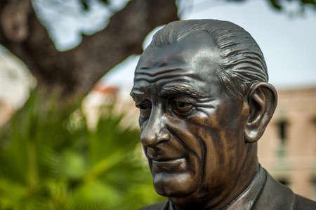 린든 존슨 대통령 존슨 동상