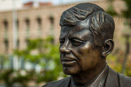 社長ジョン ・ f ・ ケネディの像