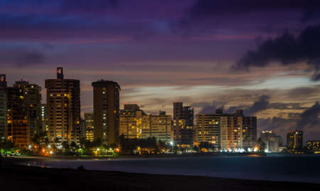 Skyline Ocean Park Puerto Rico Stock Photo
