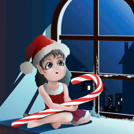 cristmas: Cristmas elf Illustration