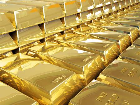 De lingotes de oro Foto de archivo - 24478292