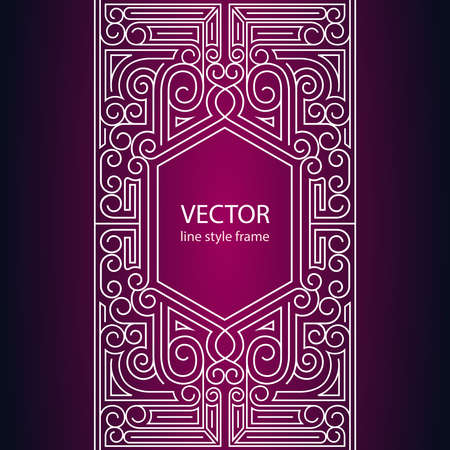 frame design: Vector geometric linear style frame - art deco border for text