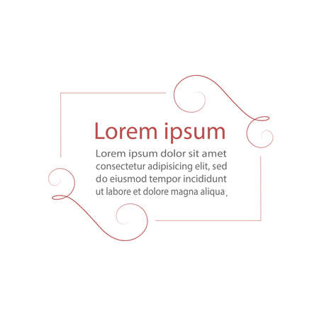 elegant template: Vector frame. Template for greeting cards and many other Illustration