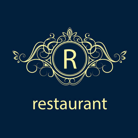 r: Simple and elegant monogram design template for two letters K G. Vector illustration