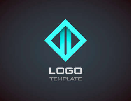 luxury template: Fashion Jewelry luxury concept abstract logo template.