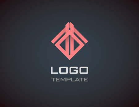 construction sign: Fashion Jewelry luxury concept abstract logo template.