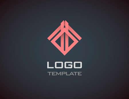 Mode-sieraden luxe concept abstracte logo template.
