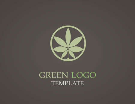 infinite loop: Eco green leaf logo template. Infinite shape. Green leaves loop. Illustration