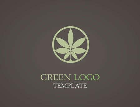 infinite shape: Eco green leaf logo template. Infinite shape. Green leaves loop. Illustration