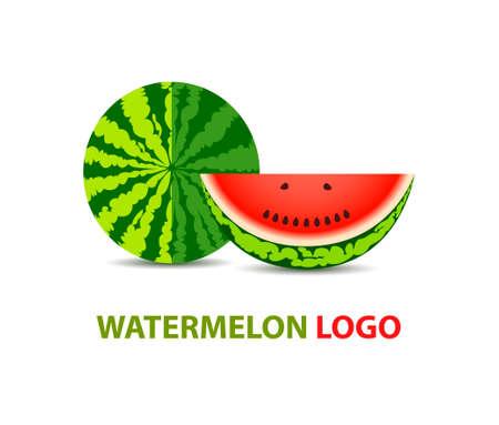 logotype: Watermelon vector logo design. Fruit logotype template Illustration