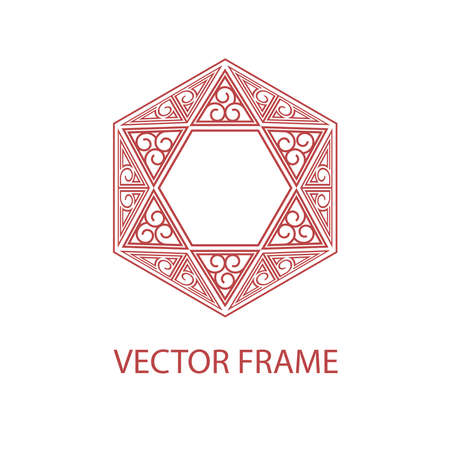 textbox: Vector geometric linear style frame - art deco text decoration. Decoration for alcohol production. Illustration
