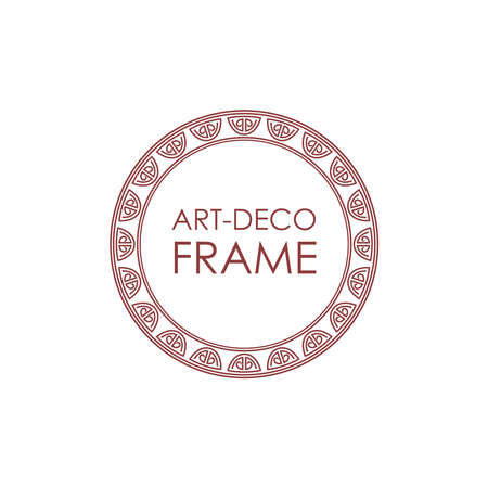textbox: Vector geometric linear style frame - art deco text decoration.