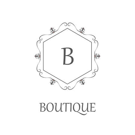 graceful: Simple and graceful monogram design template, Elegant lineart logo design