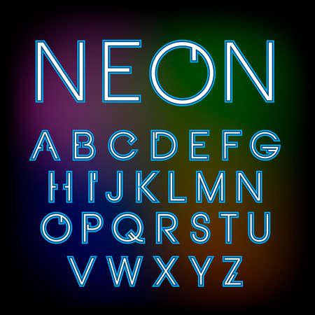 minimalistic:   simple and minimalistic alphabet in line style Illustration
