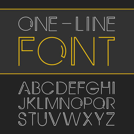minimalistic: linear font - simple and minimalistic alphabet Illustration
