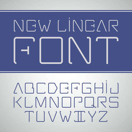 minimalistic: Vector linear font - simple and minimalistic alphabet in line style.
