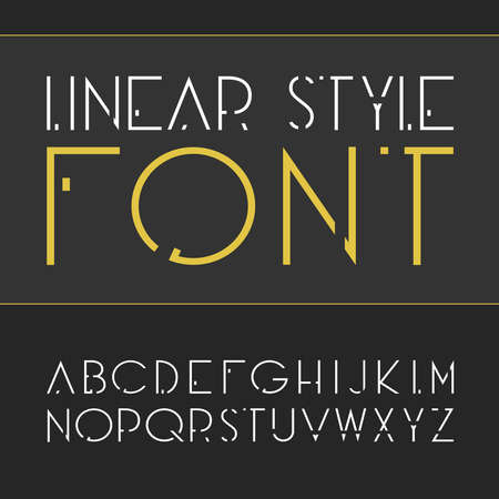 linear font - simple and minimalist alphabet in line style.