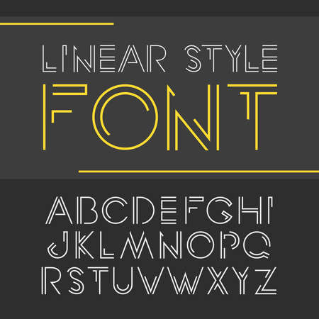 minimalistic: simple and minimalistic alphabet in line style.
