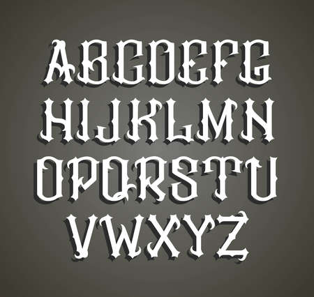 gothic style: gothic label font. Cognac label style.