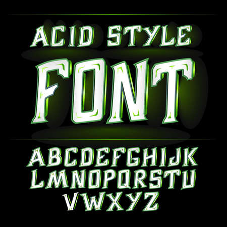 ajenjo: Vector label font, modern style. Absinthe label style Vectores