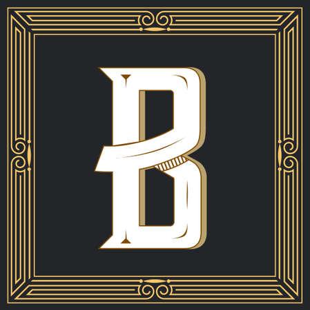 Letra de estilo retro B. Foto de archivo - 83804667