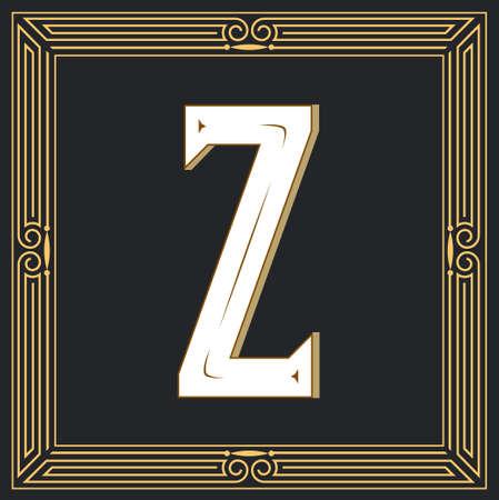 Estilo retro, diseño de letra occidental. Letra Z Foto de archivo - 84105034