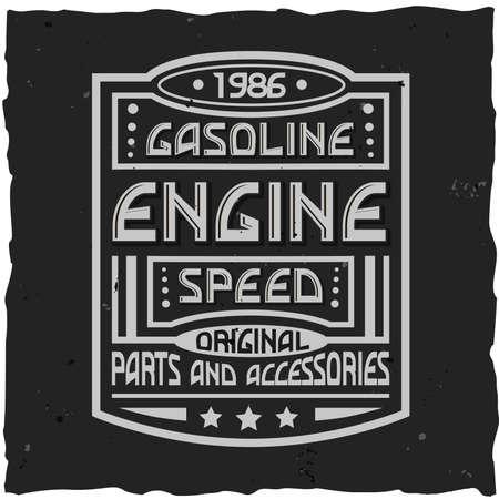 Vintage label design with lettering composition on dark background. T-shirt design. Foto de archivo - 99499776