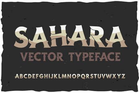 Vector typeface Sahara. Modern style font Foto de archivo - 105339390