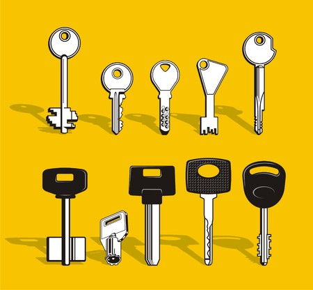 Set of keys Stock Vector - 1885773