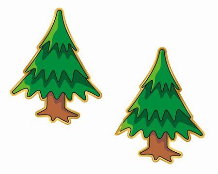 peeling: Christmas tree sticker, normal and peeling version