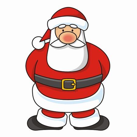 Cartoon illustration of a Santa Claus standing