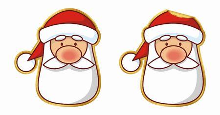 peeling: Santa sticker, normal and peeling version