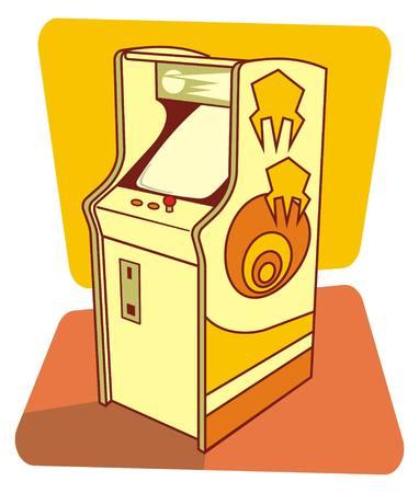 game console: Vector illustration of a retro game coin console Illustration