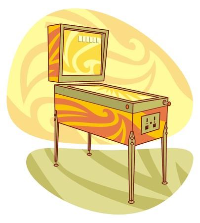pinball: Vector illustration of pinball machine Illustration
