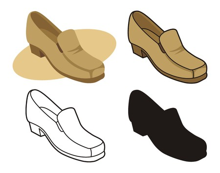 Male shoe in four versions 2 Stock Vector - 2626801