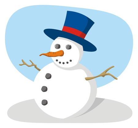 Snowman with hat Stock Vector - 2941945
