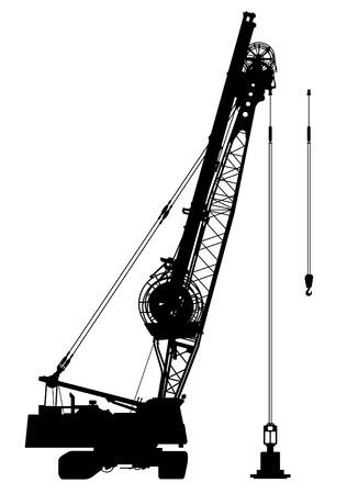 Construction crane silhouette Stock Vector - 2985980