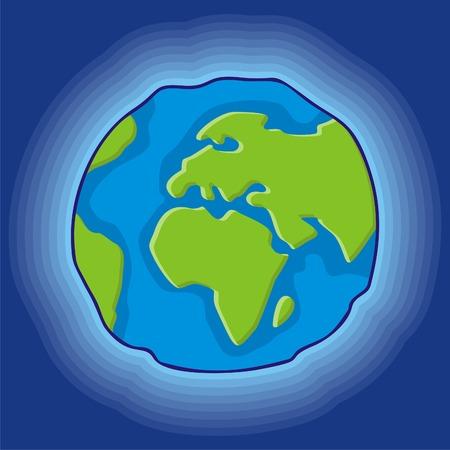 Simple globo terrestre icono, el estilo de dibujos animados  Foto de archivo - 2994822