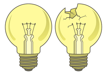 Light bulb in two versions Stock Vector - 2998697