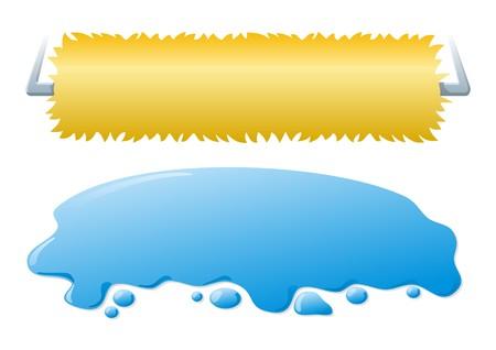 roller brush: Cepillo de rodillo lavadora y salpicaduras de agua de lavado de autom�viles banners