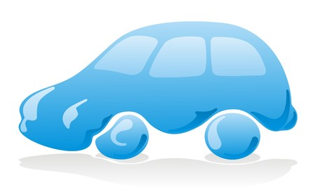 Car wash icon with blue liquid vehicle Vector