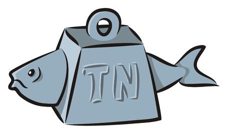 Tuna fish cartoon Stock Vector - 5164153