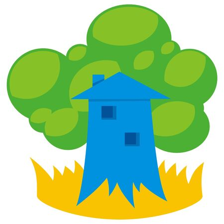 greener: Greener home icon with tree like building