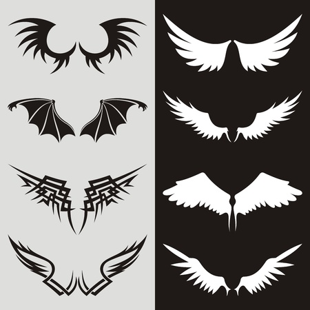 Wing shaped design elements to give your design a flying flavor.